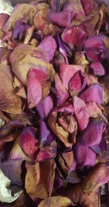Once dry, the petals were gently separated.
